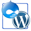 Drupal and Wordpress icon